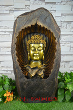 Large rockery, water fountain. Indoor Buddha. Courtyard sitting room. Landing place