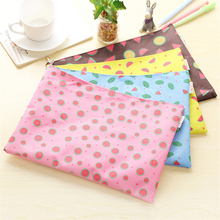 Wholesale Fresh Color Watermelon Pattern Canvas A4 File Folder Document Filing Bag Stationery Bag 8pcs/lot ARC1177(China (Mainland))