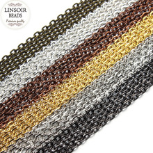 Buy LINSOIR 10m/lot 2*3mm Metal Iron Necklace Chains Bulk Jewelry Making Gold Color Rolo Chains Fit Bracelets Findings F712 for $2.62 in AliExpress store