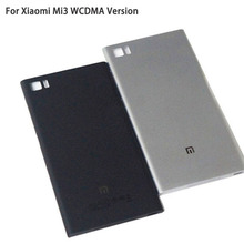 Battery Door Rear Cover For Xiaomi Mi3 M3 Mi 3 WCDMA Version Back Housing Phone With SIM Card Tray Side Buttons LOGO 4 Colors(China (Mainland))