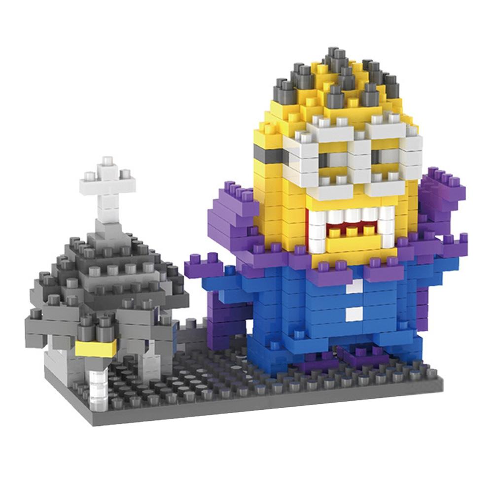 Cartoon Figure Diamond Small Building Blocks Diy Assembled Puzzle Minecraft Assembling Block Toy Particle 350pcs