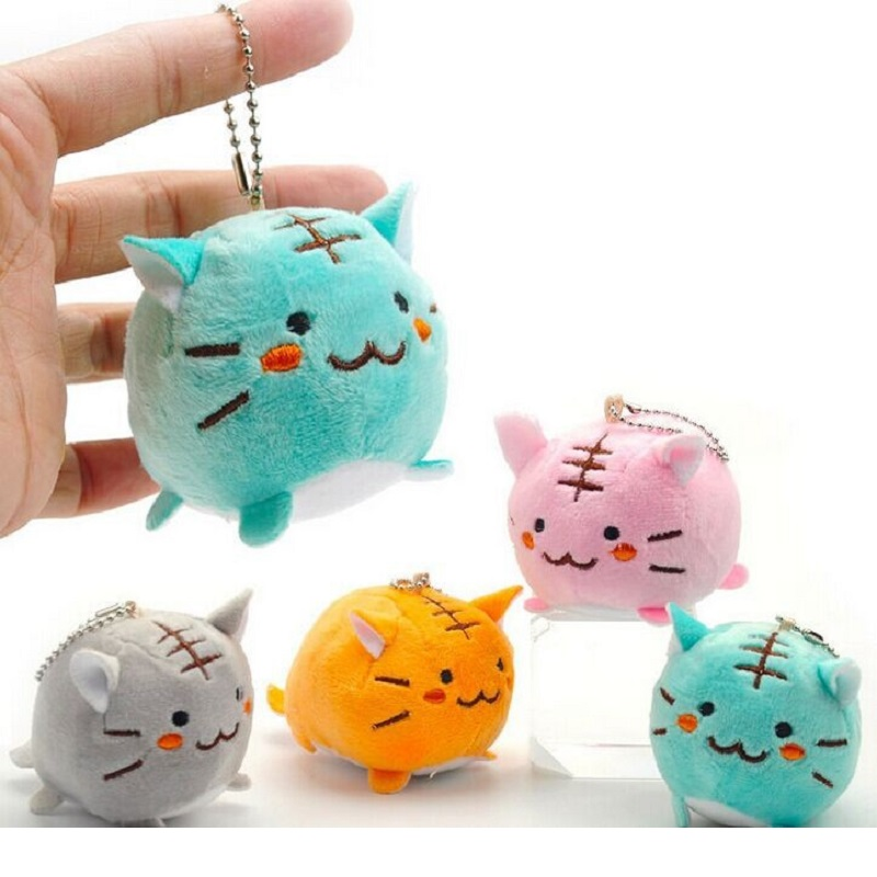 2016 Hot sale Cute cartoon Cat Plush Toys mini Margay 6cm Small pendant Phone chain Adult Child Interesting toy gifts(China (Mainland))