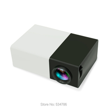 Free Shipping YG300 black white yellow white home portable mini projector home theater player AV USB SD HDMI input(China (Mainland))
