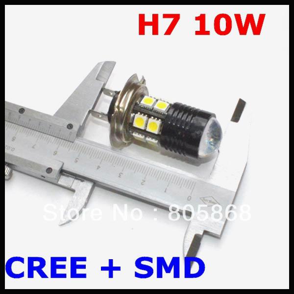 H7 LED Fog Light, Headlight, CREE chips led Fog Lamp, Q5+ 12 SMD=10W Fog Light Car Led Bulb H7,H8,H9,H10,H11,9005,9006