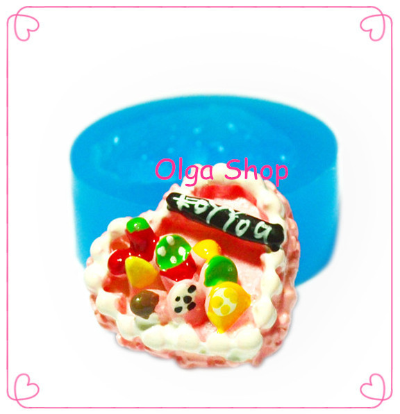 GYL194 Heart HAPPY BIRTHDAY Cake Mold Fruit Cake Mold - Cupcake Decoration Candy Sugarcraft Molds, Charms Mould Food Safe(China (Mainland))
