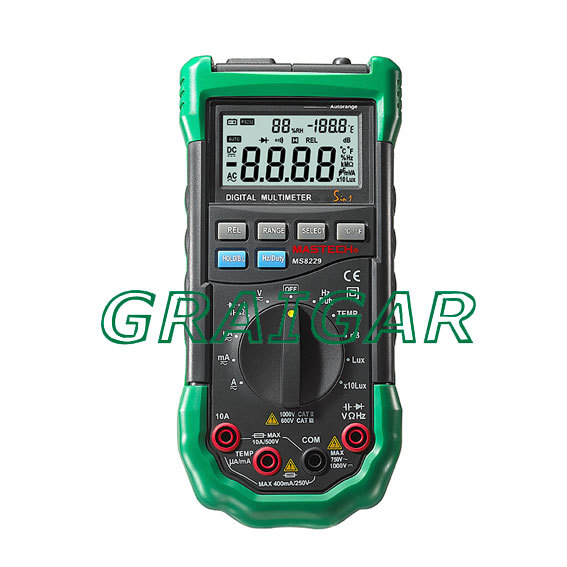 New MS8229 5 1 Multimeter Lux Humidity Sound Meter