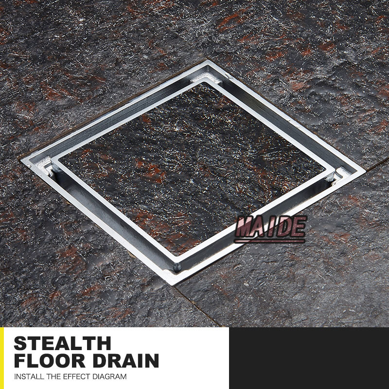 Bathroom Floor Drain : Aliexpress buy inch chrome insert tile invisible