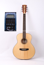 "Buy 36"" Acoustic Guitar,Solid Spruce Top/Mahogany Body guitarra eletrica LCD Pickup, GS mini guitar,Children travel guitar for $477.98 in AliExpress store"