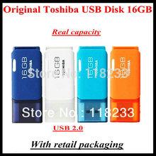Original TOSHIBA one piece Real capacity 4GB 8GB 16GB 32GB 64GB USB flash drive quality Memory Stick Pen Drive  Free shipping