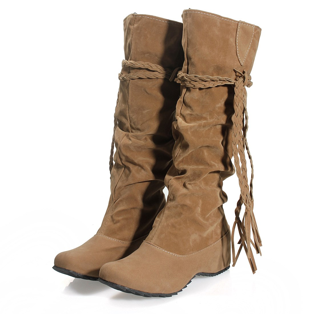 Knee High Leather Boots Lace Up   Homewood Mountain Ski Resort