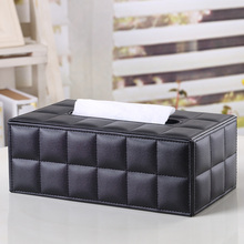 Ever Perfect Modern Rectangle Leather Tissue Box Napkin Toilet Paper Box Holder Case Dispenser Home Decoration(China (Mainland))