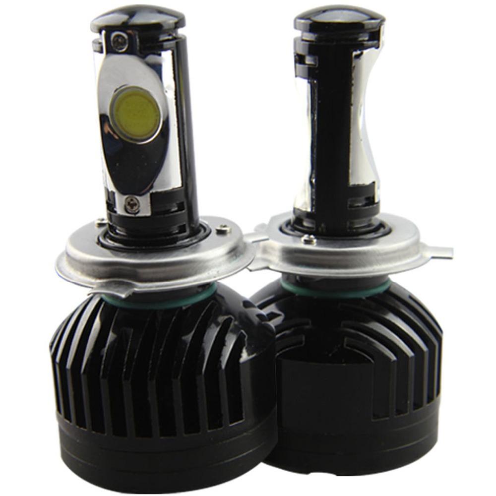 LED Car Headlights h4 led lamp h4 hi lo led cree 3600lm 36w 6000k 2 pieces/lot cob bulb car styling(China (Mainland))