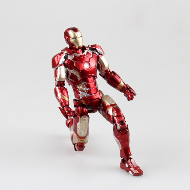The Avengers 2 super hero alloy iron man action figures MK43 joint movable toys iron man models high quality figures(China (Mainland))