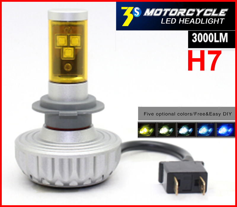 1 Set H7 60W 6000LM CREE LED Headlight Single Beam XM-L2 CHIP 3S UPGRADED Changleable ALL IN ONE Auto Motorcycle Head Fog Lamp(China (Mainland))