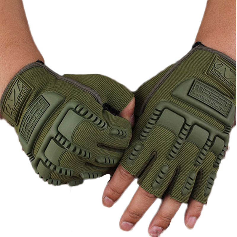 2016 New Arrival Solid Gloves Men Army Outdoor Half Fingerless Gloves Airsoft Bicycle Adult Antiskid Tactical Gloves VM0011(China (Mainland))