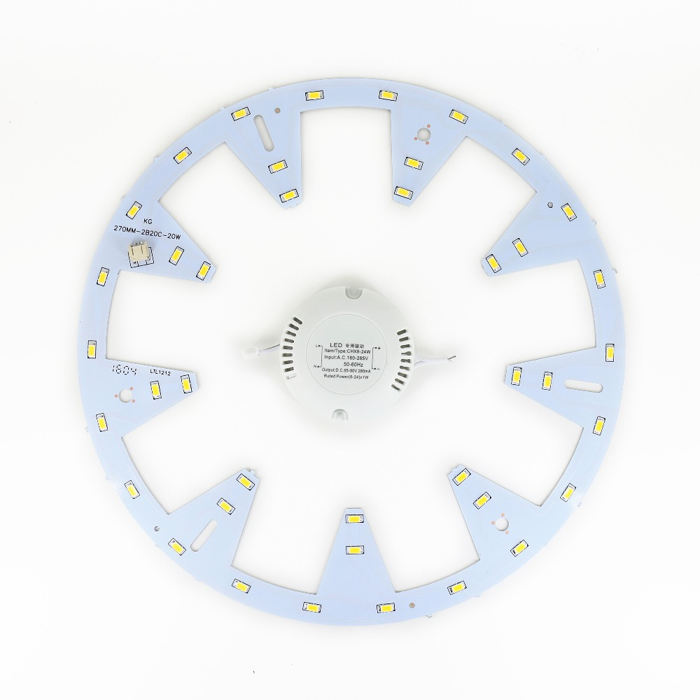power driver AC 180-265V diy led ceiling light 20W retrofit Board LED PANEL Circle Ring Light Round circular lamp 5730 SMD(China (Mainland))