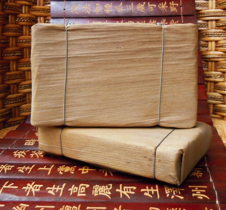 2006 bamboo leaf bricks Puer 250g Ripe Puerh tea Menghai aged Shu Pu erh tea