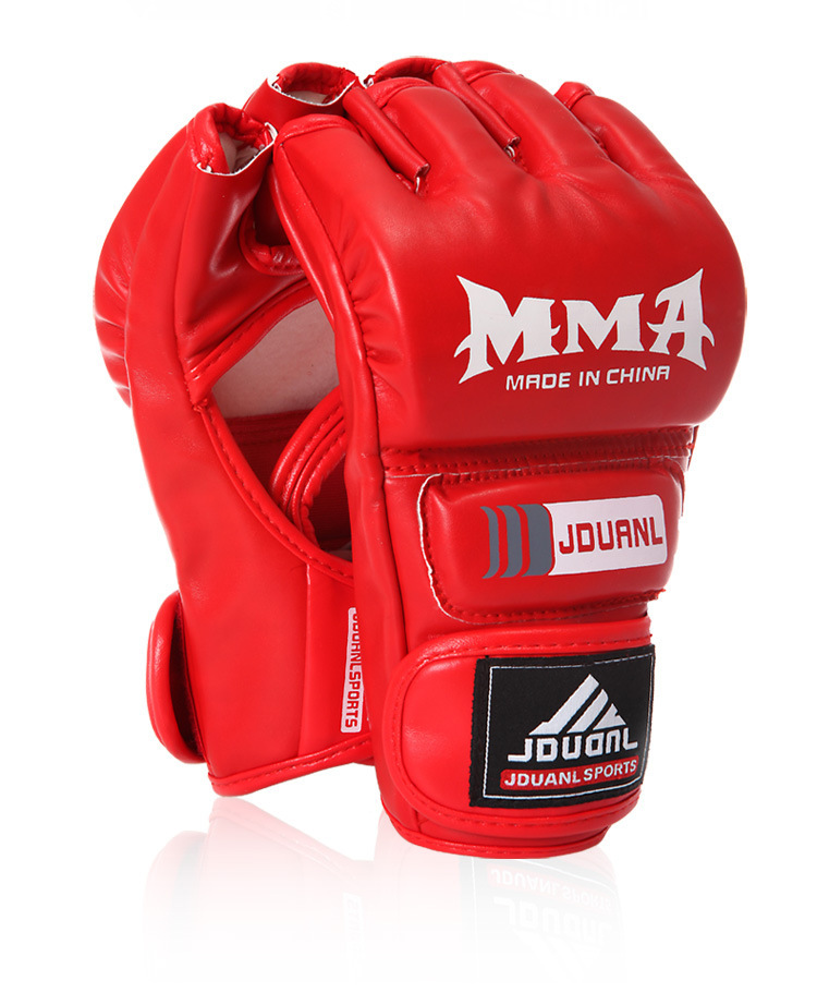 MMA Bone boxing gloves / Competition Training Gloves/ extension wrist leather / MMA half fighting Boxing Gloves YG-15(China (Mainland))