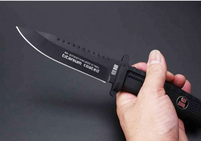 Buy Handle Hunting Knife,Camping Survival Knife.RK-31710 Tactical Fixed Knives,8Cr17Mov Blade Rubber D2 G10 cheap