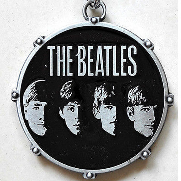 Hot Song British band The Beatles characters Black 5cm Metal Key chain Ring Beatles Fans gift(China (Mainland))