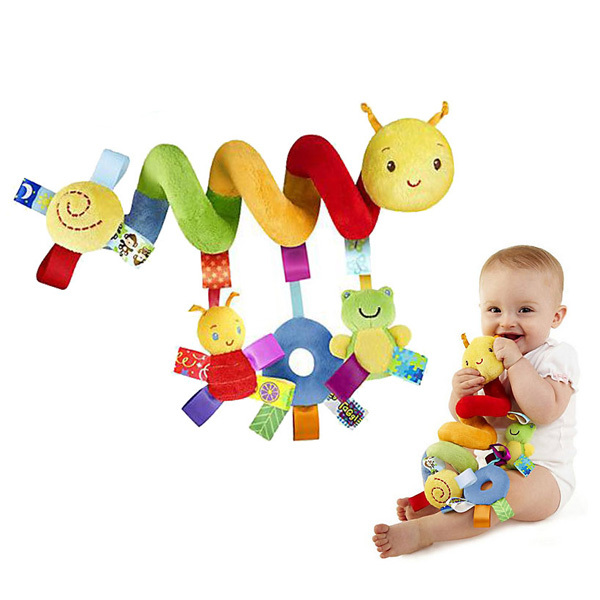 Hot Sale plush baby toy educational newborn mobile baby rattles toys for kids colorful caterpillar baby stroller toys hanging(China (Mainland))