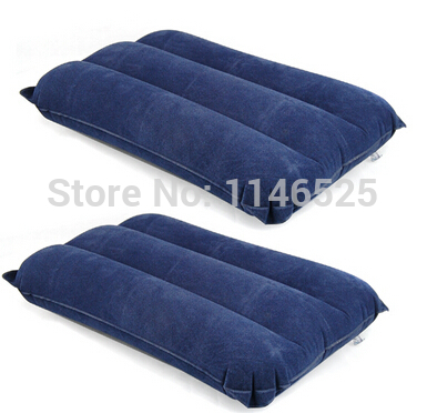 BLUE INFLATABLE PILLOW TRAVEL SOFT BLOW-UP(China (Mainland))