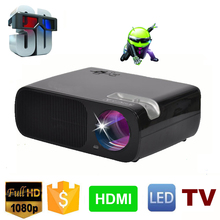 Android 4.4 Bluetooth Wireless Wifi Miracast LED Projector Portable Mini Projector 2800 lumens for Home Theater Party and Games(China (Mainland))