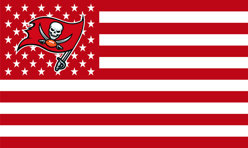 Tampa Bay Buccaneers With Stars and Stripes Banner Flag 3X5FT NFL Flags F-00052(China (Mainland))