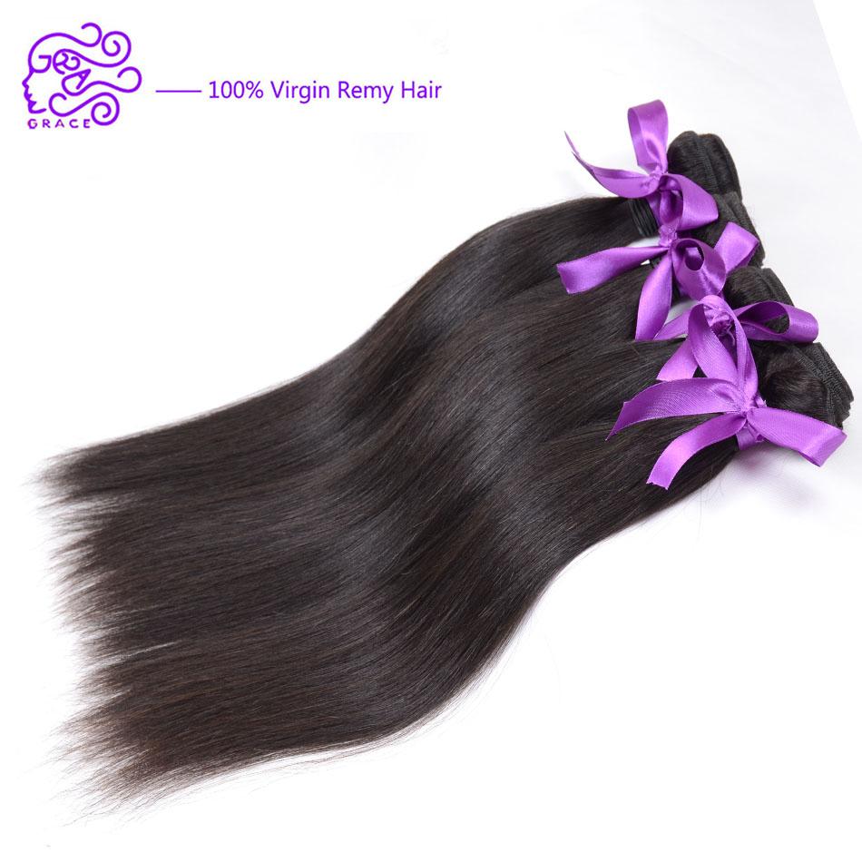 New 6A Brazilian Virgin Hair Straight 4pcs/lot Rosa Hair Products Virgin Straight Hair Cheap Human Hair Weave Brazilian Straight(China (Mainland))