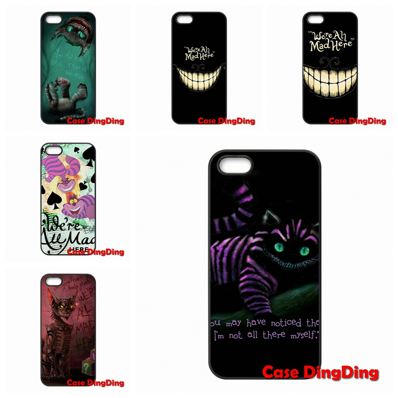 Cheshire cat mad here For Moto X1 X2 G1 E1 Razr D1 Razr D3 iPhone 4 4S 5 5C SE 6 6S Plus Apple iPod Touch 4 5 6 cell phone case(China (Mainland))