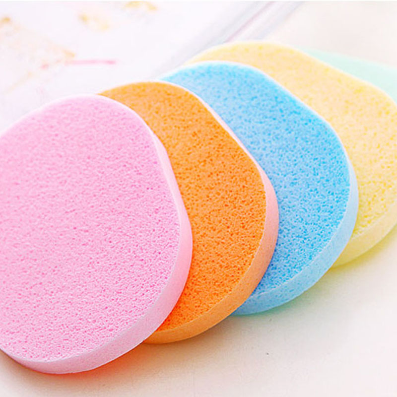Facial Cleansing Sponges Soft Puff Compressed Cellulose Facial Sponges Original Natrual Pure Face Washing for All Skin Type(China (Mainland))
