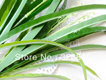 4 pcs/lot Artificial flower plastic green plant decoration flower Gladiolus leaves DIY leaf FREE SHIPPING