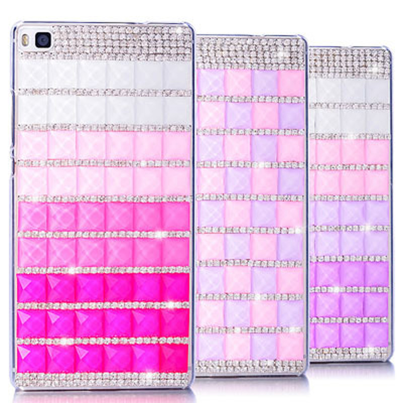 Bling Cover For Sony Xperia X Case Luxury Colorful Handmade Square Crystal Diamond Hard Cover Phone Cases Celular(China (Mainland))