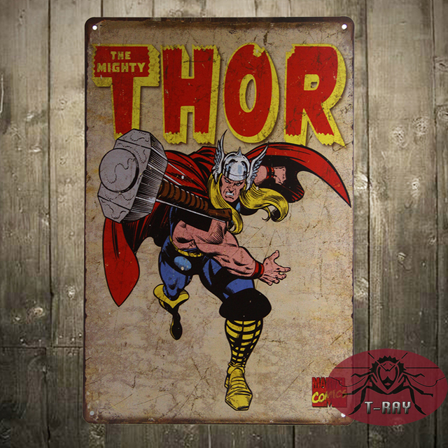 The Mighty Thor tin sign