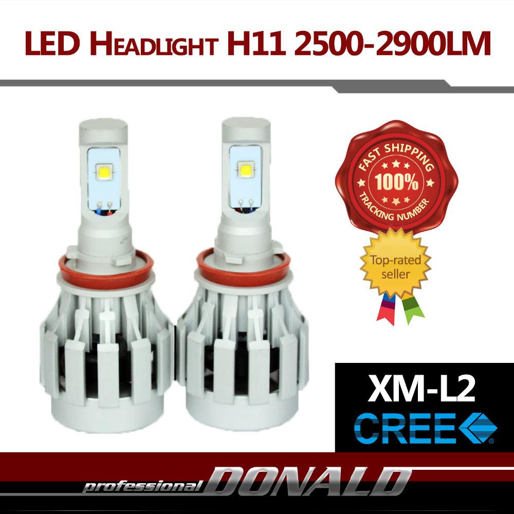 High Power!! 2x H11 ALL IN ONE 80W/Set 4400LM CREE XM-L2 LED Car 6000K White Fog Headlight Bulb W/ Fans Fast Heat Dissipation<br><br>Aliexpress