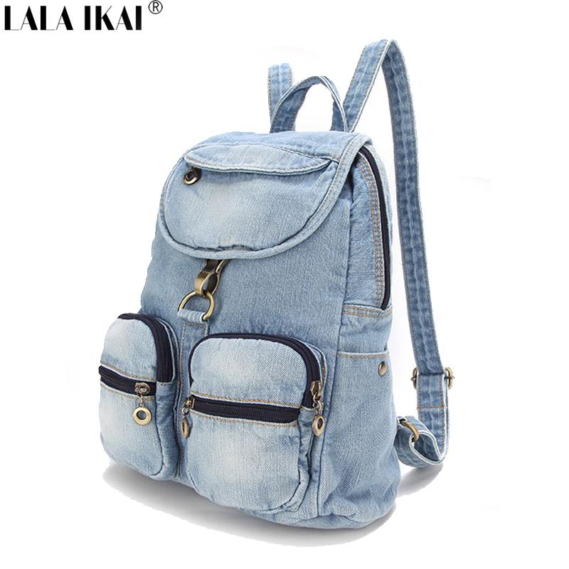 New Design School Bag Backpack for Teenagers Preppy Causal Daily Bag Sport Travel Backpack Denim Backpack Woman Bag BWE0181<br><br>Aliexpress