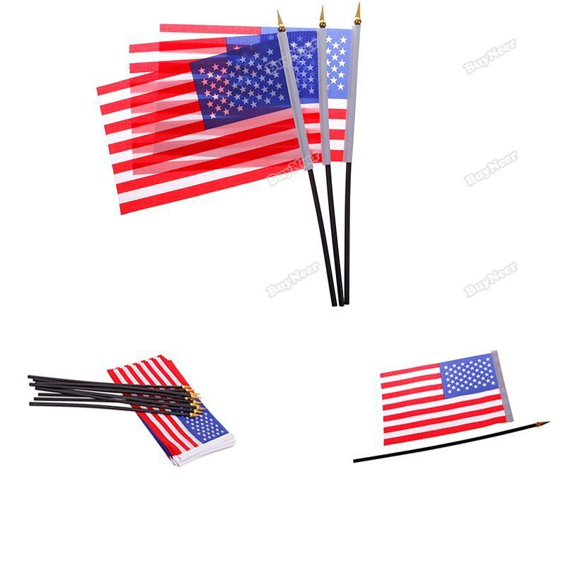 trademee Currently! 2014 Brazil World Cup Hand Waving Cheering National Team Flags USA newest classic(China (Mainland))