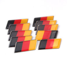 Buy 10x Aluminum Germany German Flag Rear Emblem Badge Decal Sticker Fit Audi Opel Porsche VW MK7 MK6 Golf for $18.79 in AliExpress store
