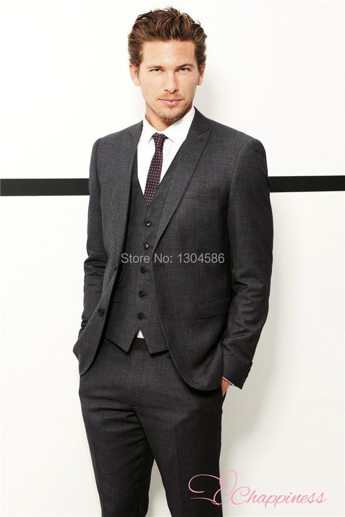 3 Piece Dark Grey Suit Dress Yy