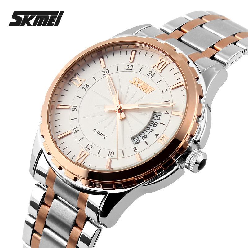 2015 Watches men luxury brand Skmei quartz watch men full steel wristwatches dive 30m Fashion sport