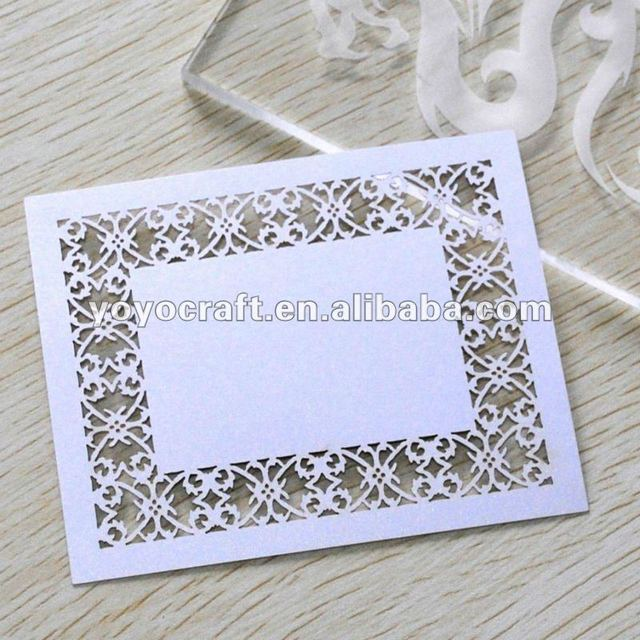 Hot sell! Laser cut wedding table place cards for party decoration MOQ 300pcs with fast delivery