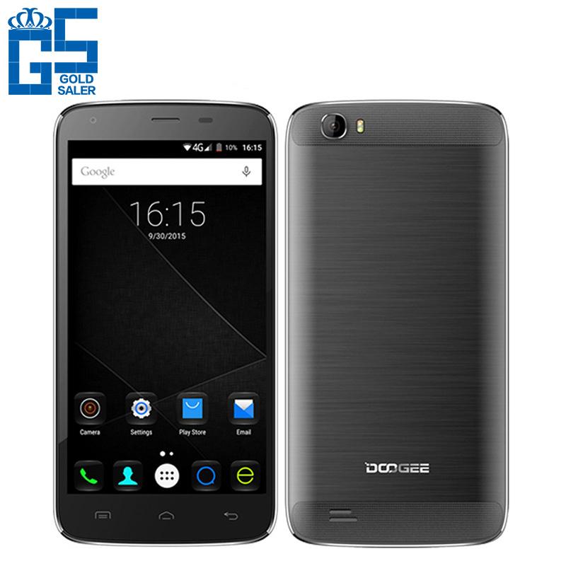 "Original Doogee T6 5.5"" HD 6000mAh 4G LTE Mobile Phone MTK6735 Quad Core 2GB RAM 16GB ROM 13MP Dual SIM Android 5.1(China (Mainland))"