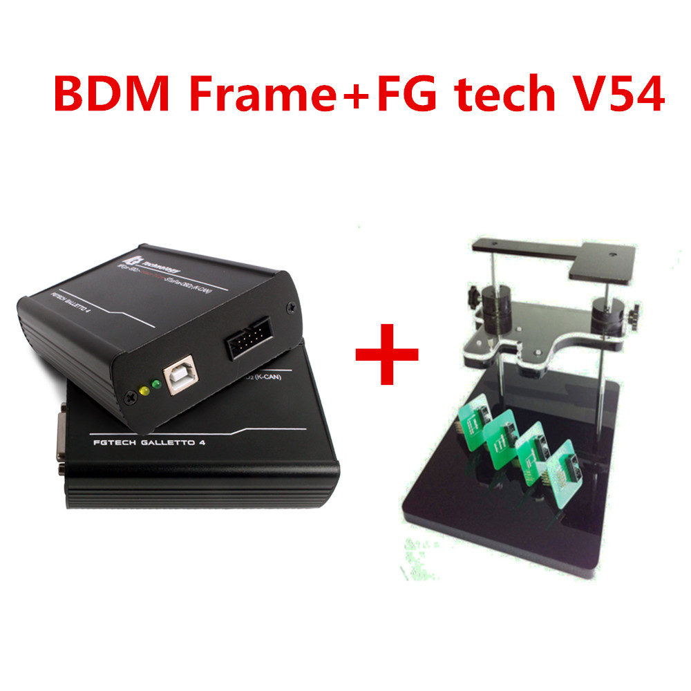 Best match +Best quality A+! DHL Free Ship [ Bdm frame+Fgtech Galletto 2 Master V54 ] OBD2 Chip Tuning FG Tech Galletto4 Master(China (Mainland))