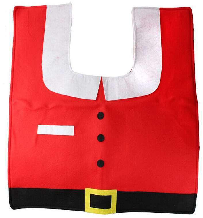 Santa Toilet Seat Cover Rug Bathroom Set Christmas Decoration Shop 9