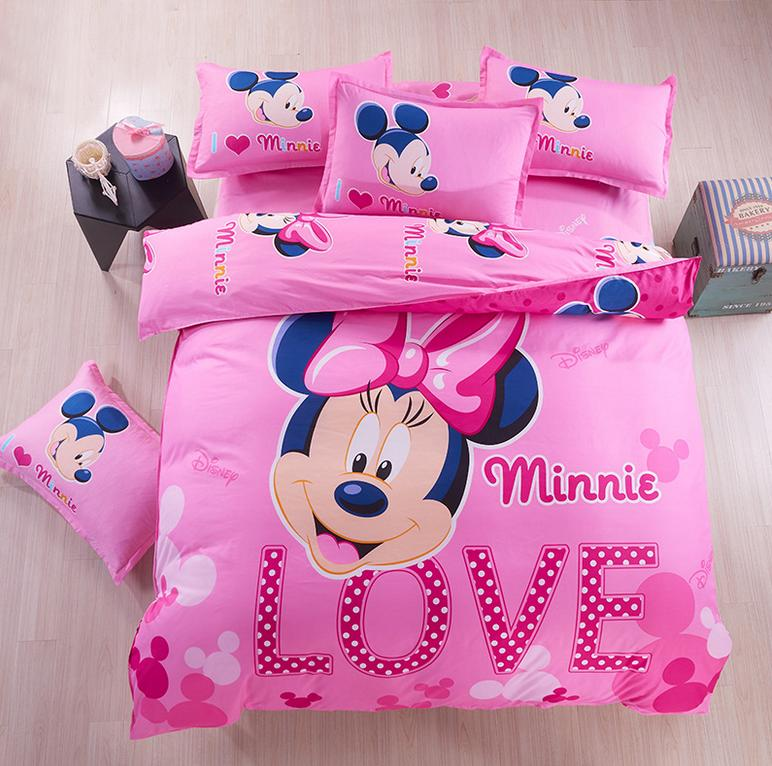 8Choice Boys Kids Bedding Sets Summer Style Anime Bedding Sets Mickey And Minnie Duvet Cover Set Bedspreads Bed Linen Mouse(China (Mainland))