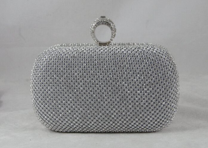 FREE S&P Shiny Formal/Party/Wedding Crossbody Messenger Crystal Clutches(China (Mainland))
