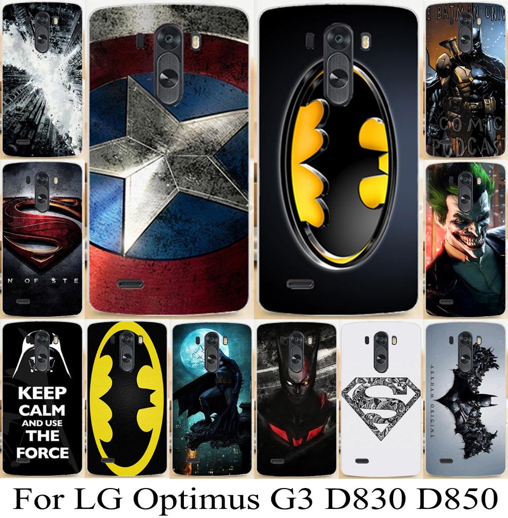 Cover For LG Optimus G3 D830 D850 D855 D831 LS990 F400K Case Shell G3 Superman logo batman captain america Phone Case Back Cover(China (Mainland))