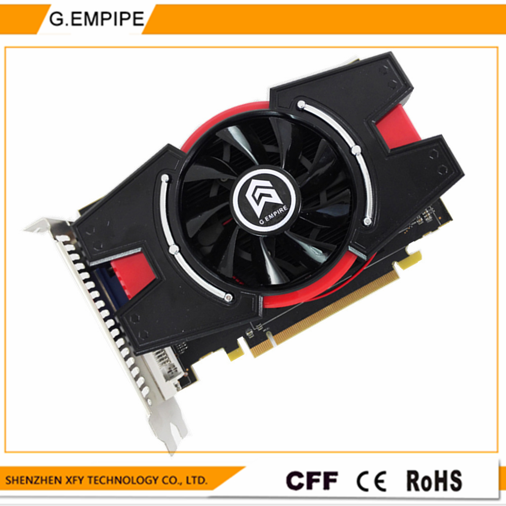 VGA Graphic Cards Radeon HD7750 2GB GDDR5 Tarjeta Grafica Scheda Video Placa De Video Card Carte Graphique for AMD ATI with fan(China (Mainland))