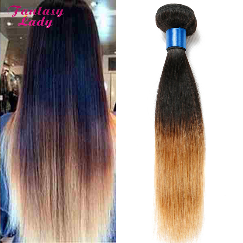 Factory sell Ombre Brazilian Hair Straight Weave 4Pcs Lot Two Tone Ombre Hair Extensions Brazilian Virigin Hair T1B/27 Wholesale