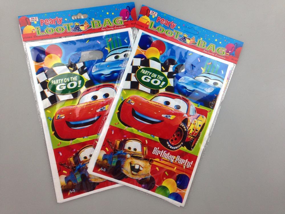 2015 New arival PE gift bag car design loot bag kids birthday party supplies baby shower boy return favors gifts 10 pcs/lot P220(China (Mainland))